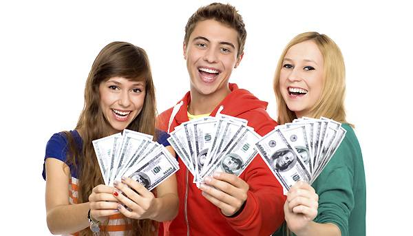 teens with money
