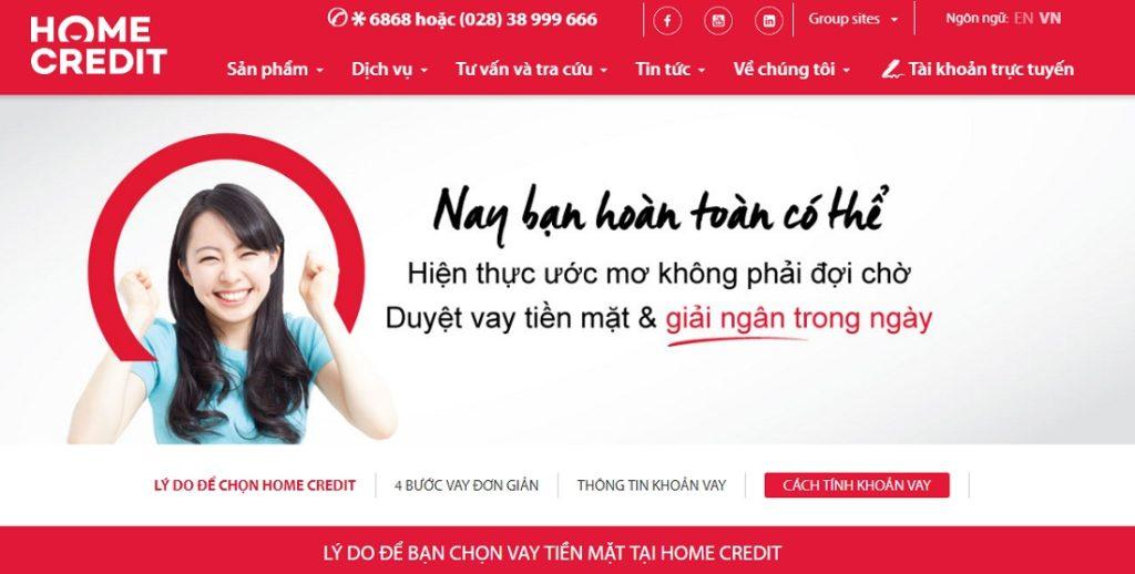 Home Credit Vietnam — vay tien nhanh nhat trong ngay